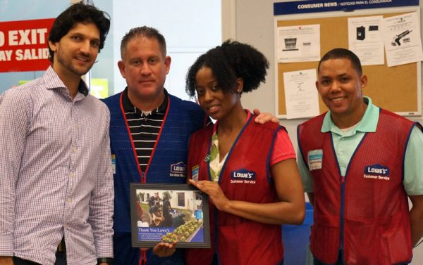 Thanking Our Local Lowe's Team